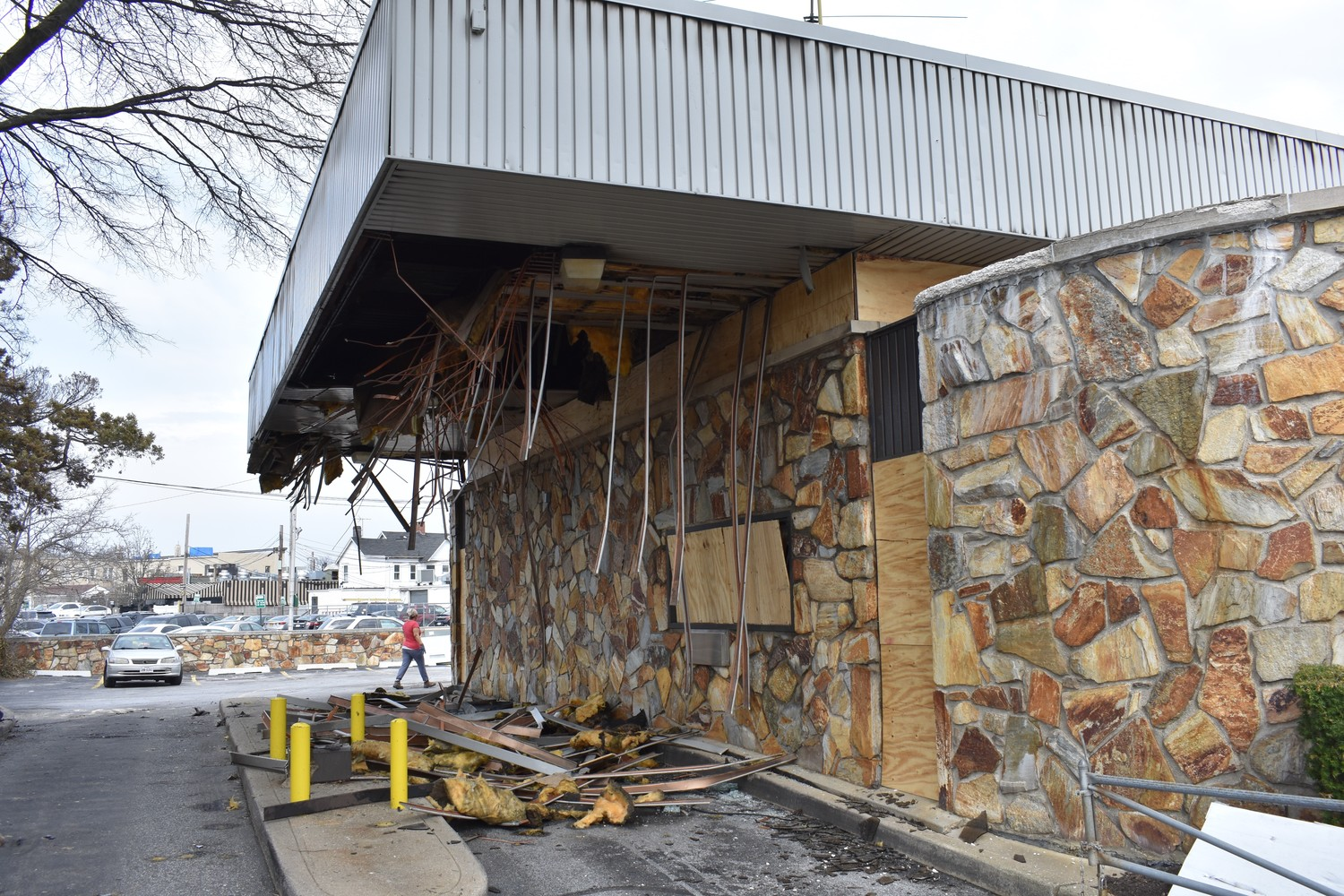 A fire last week left extensive damage on the former Capital One Bank at 77 Lincoln Ave., according to Rockville Centre Fire Chief Brian Cook.