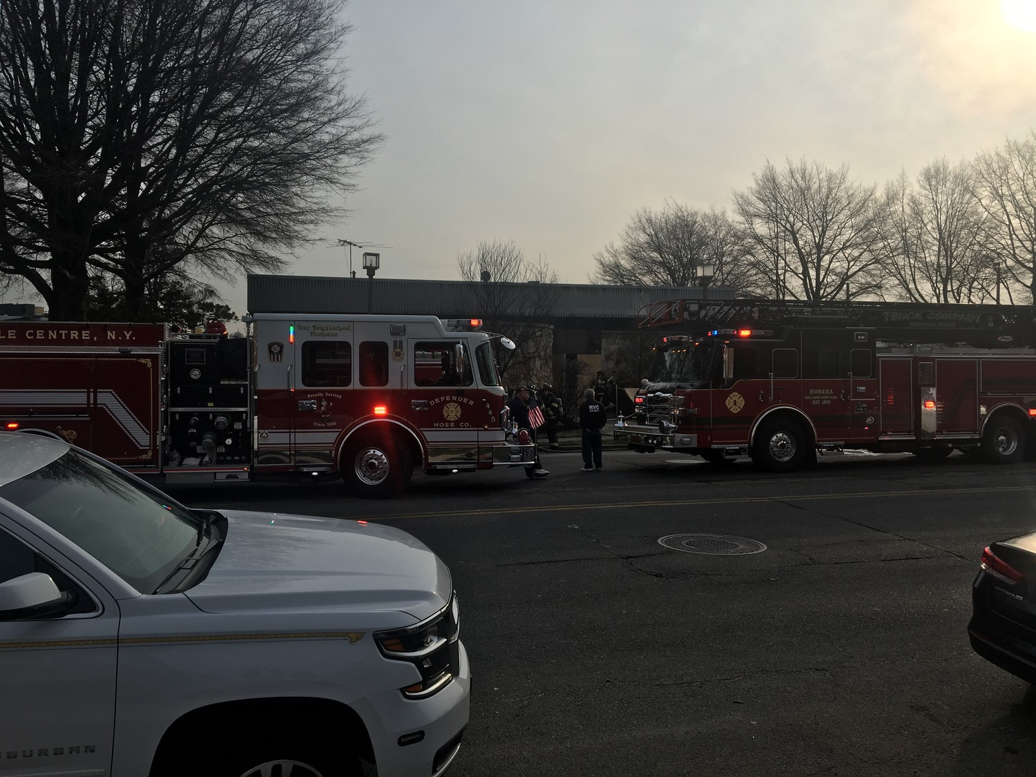 Firefighters responded to the scene on the morning of April 12.