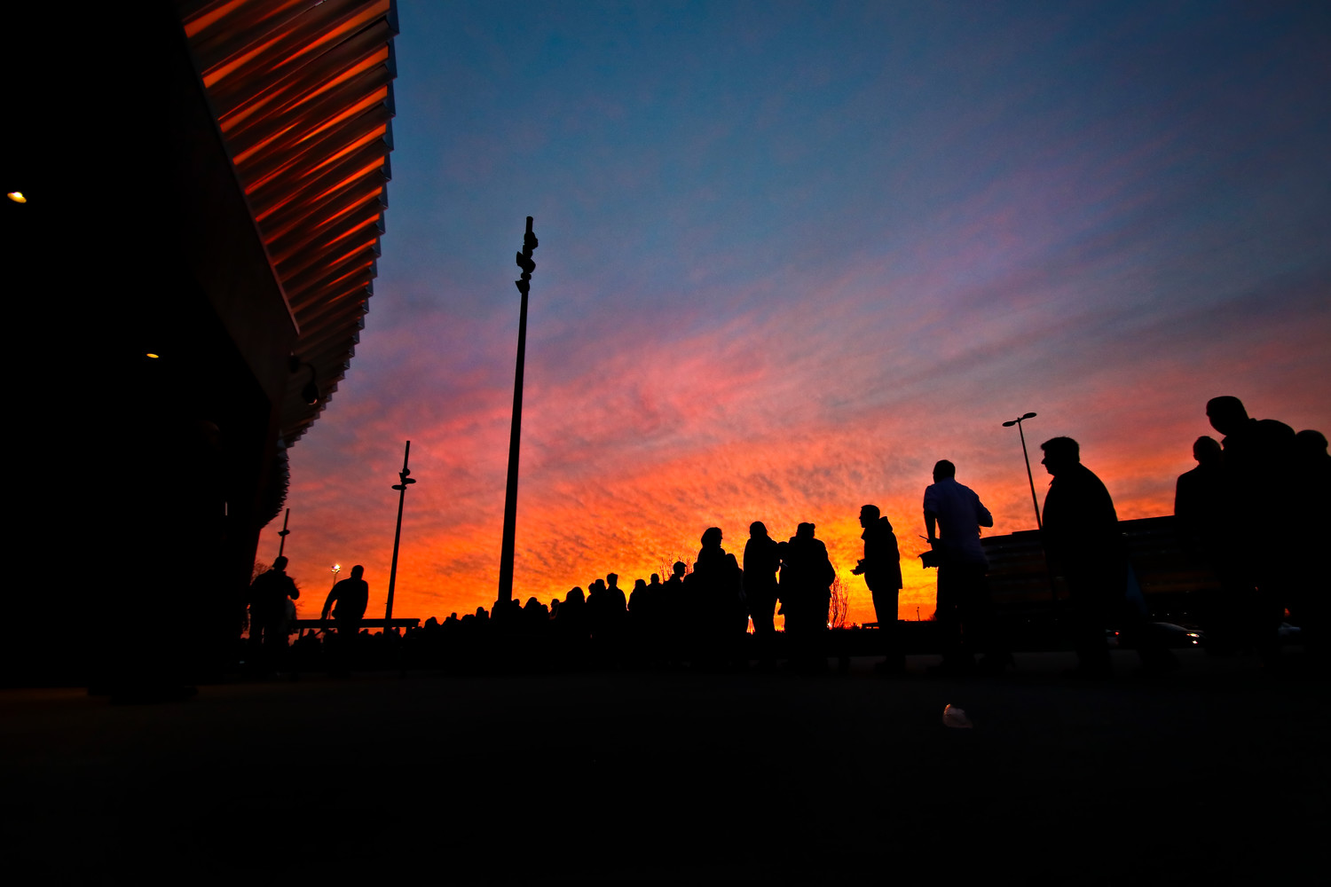 Daly grabbed third place for Art Photo for this silhouetted sunset shot at Nassau Veterans Memorial Coliseum.