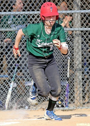 Senior leadoff batter Azaria Vargas had two hits, two runs and three steals for Kennedy in last Friday's 11-3 victory at Clarke.