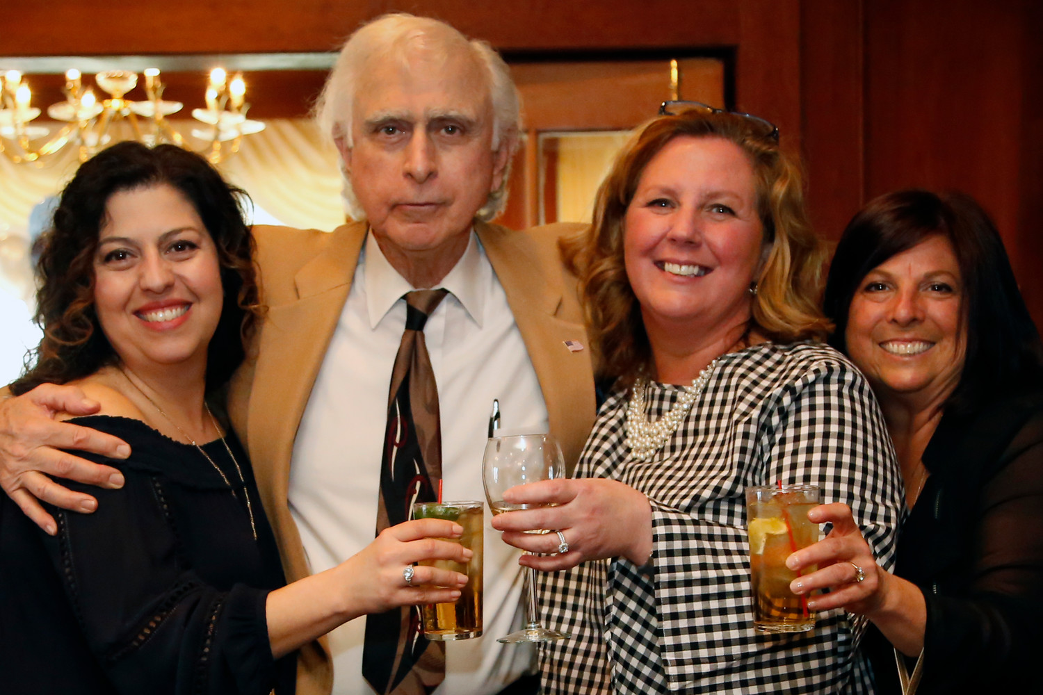 Honoree Don Maresca with teachers Marla Pedi, Christina Sartori and Andrea Marzano.