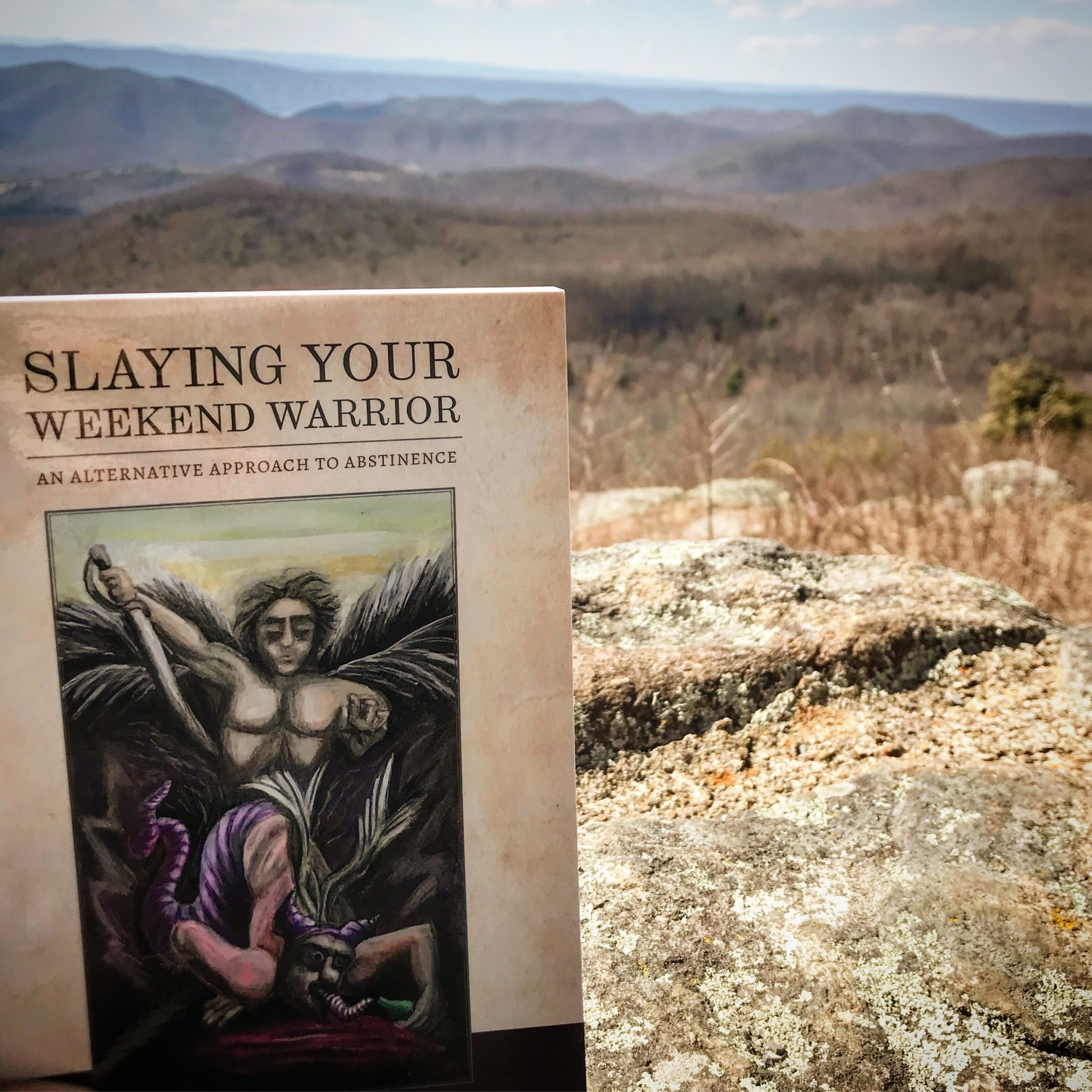 "Hall said that one of his favorite alternatives to drinking is going hiking. He brought his book, ""Slaying Your Weekend Warrior: An Alternative Approach to Abstinence,"" with him on a trip to the Shenandoah Valley in Virginia."