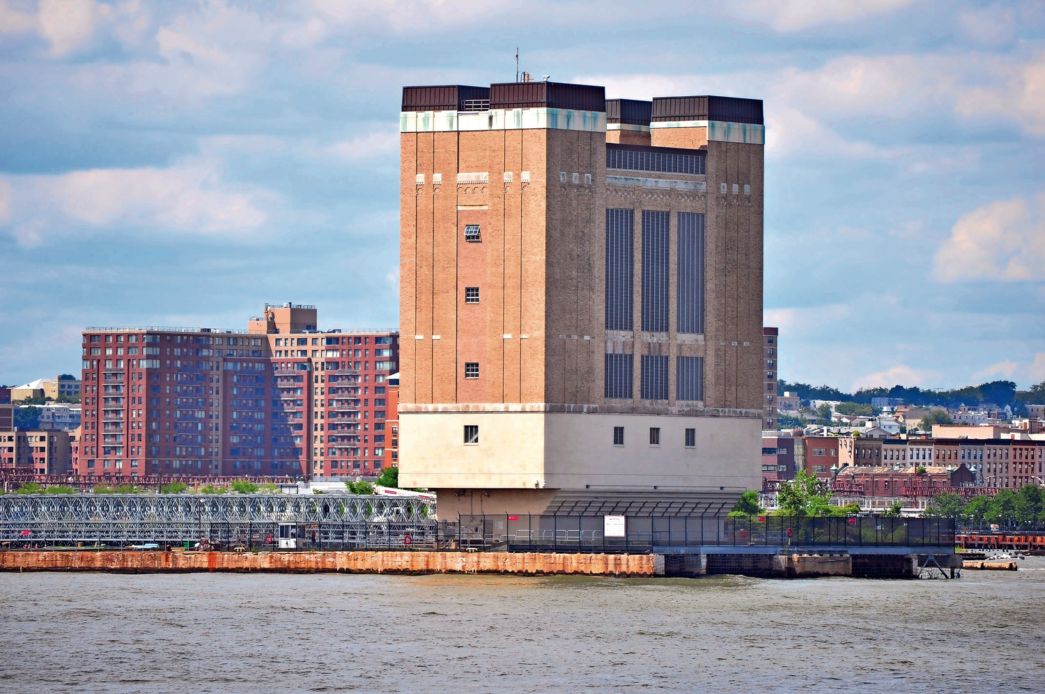 When the governor's tunnel project moves forward a ventilation tower, like this one seen from the New Jersey side of the Holland Tunnel, will be needed and it may be built in Bayville