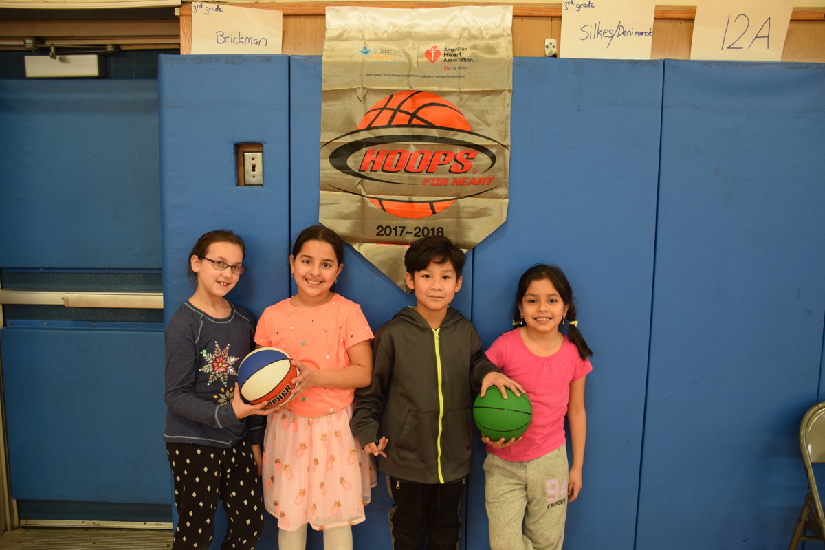 Students in grades one through five learned how to live a healthy lifestyle.
