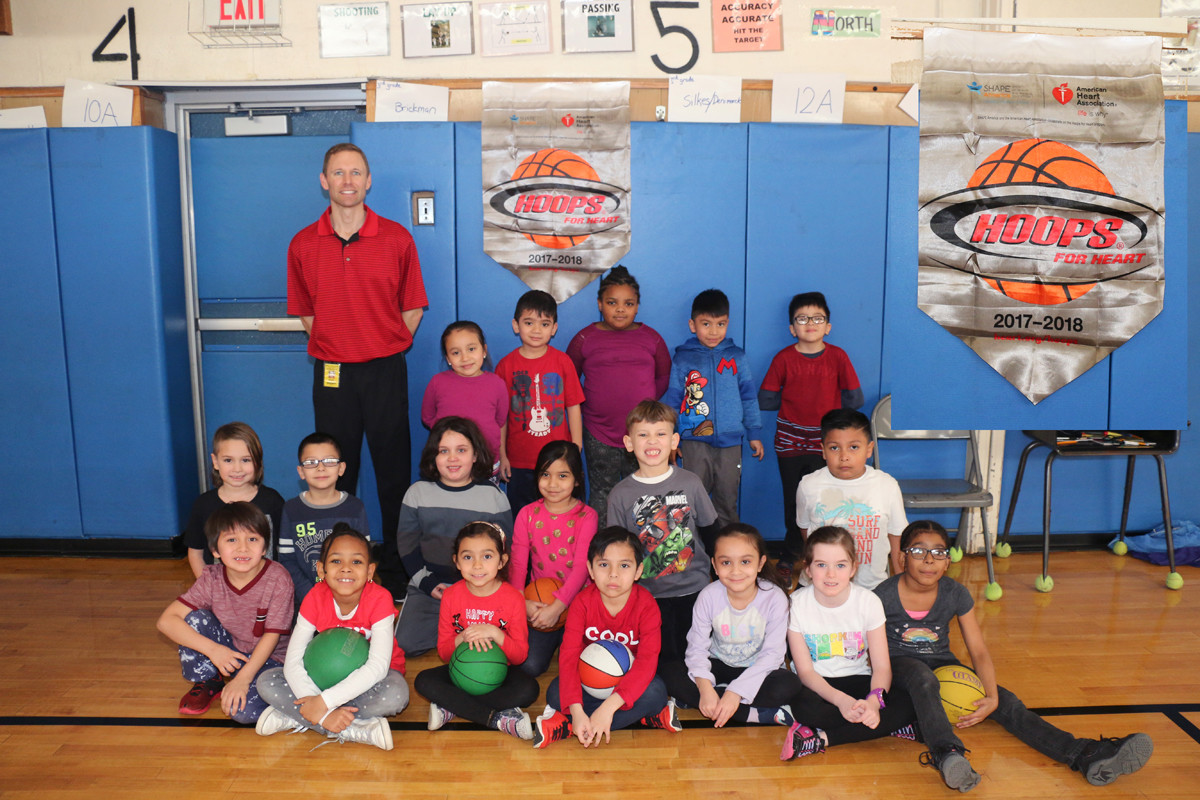 In recognition of American Heart Month, Cornwell Avenue Elementary students exercised their heart muscles.