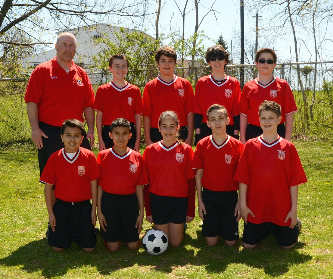 One of the Franklin Square Raiders Soccer Club's co-ed squads. The club has been training young players for 36 years.