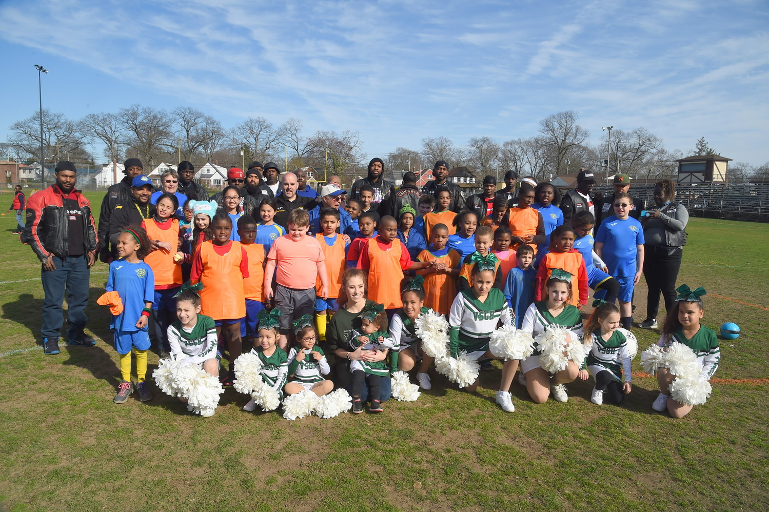 Valley Stream Soccer Club's TOPSoccer team, coaches and guests gathered at Fireman's Field last Saturday to highlight the club's special-needs program.