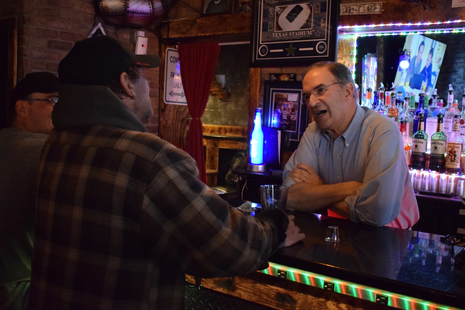 Nassau County Legislator and Franklin Square-based Attorney Vincent Muscarella served as a special guest bartender for the night.