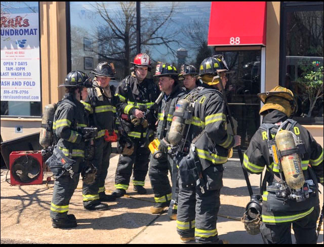 Rockville Centre firefighters responded to the underground fire.