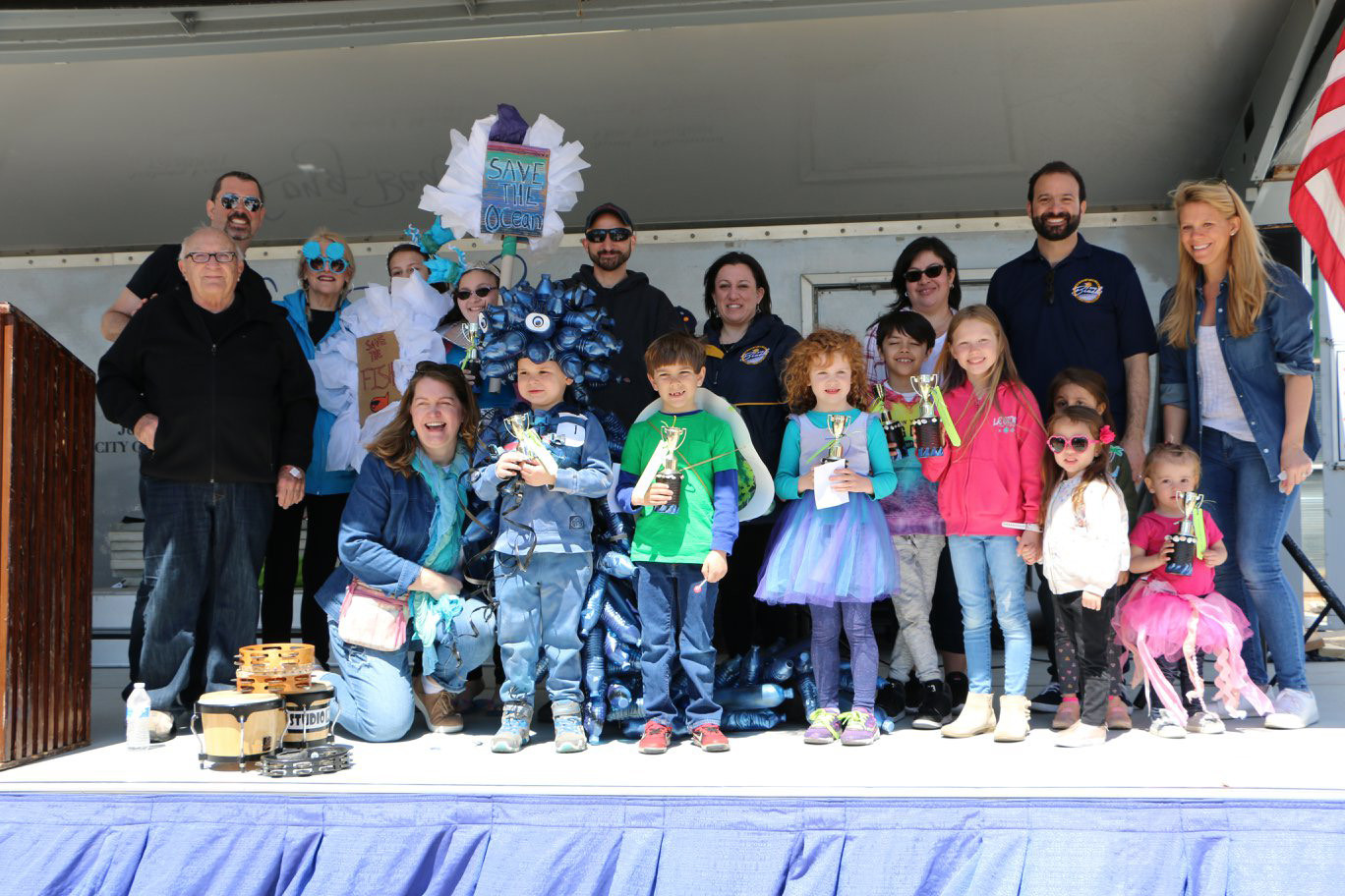 The winners of the Jellyfish Jamboree costume and float contests showed off their costumes and prizes.