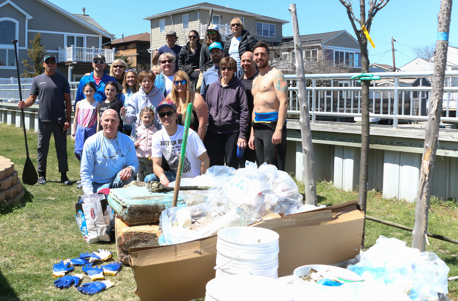 Volunteers collected hundreds of pounds of debris from the waterways and streets.