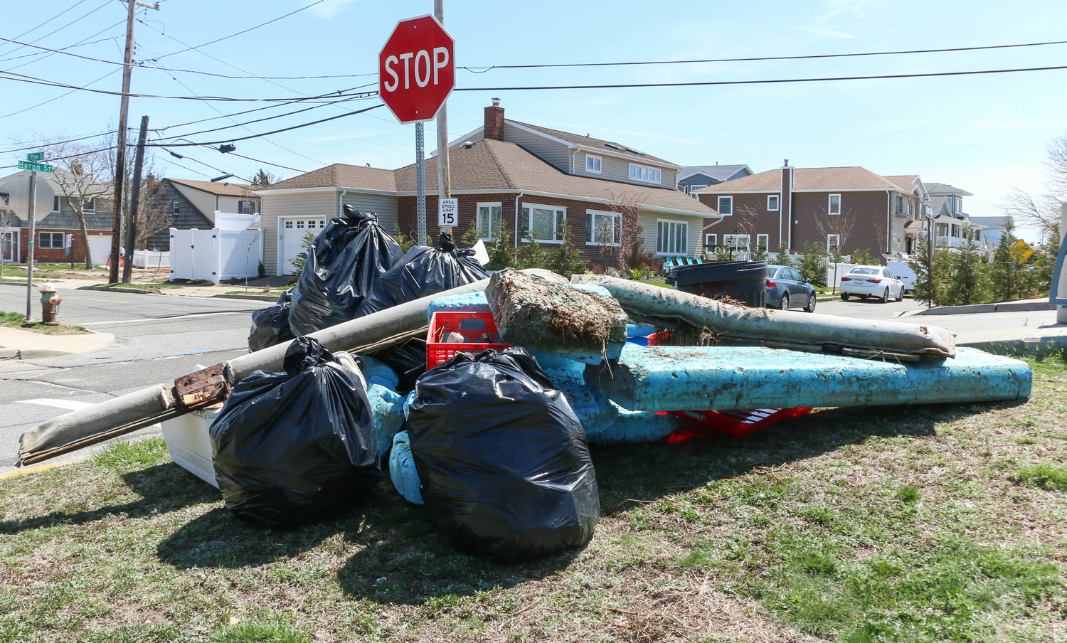 Hundreds of pounds of debris were removed from the waterways.