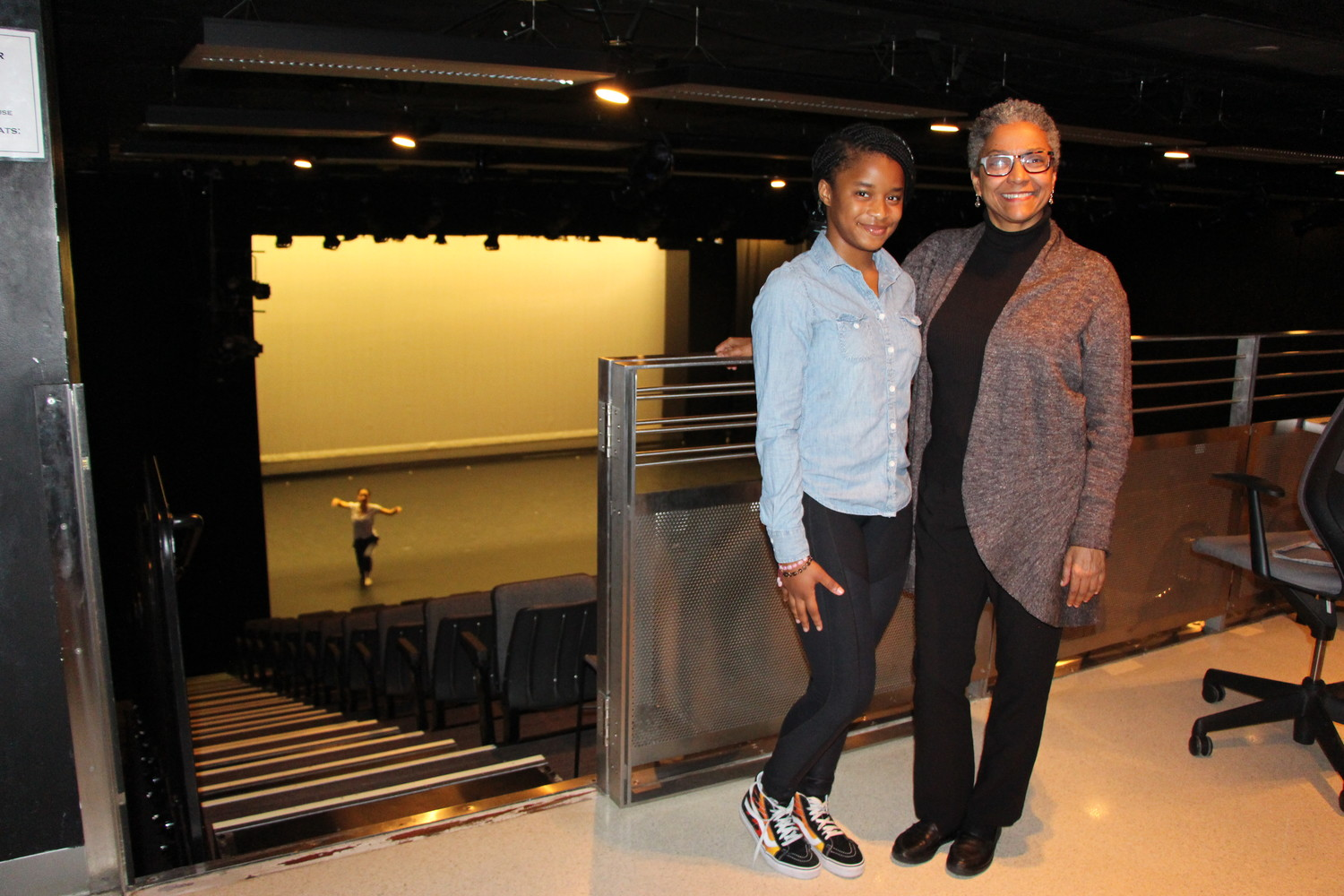 Stewart with Ailey school Co-Director Melanie Person.