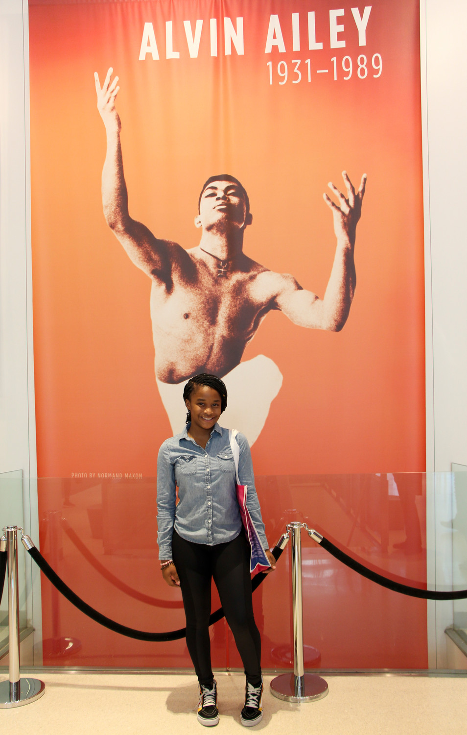 Samantha Stewart joined Alvin Ailey on April 24 for Take Our Kids to Work Day.
