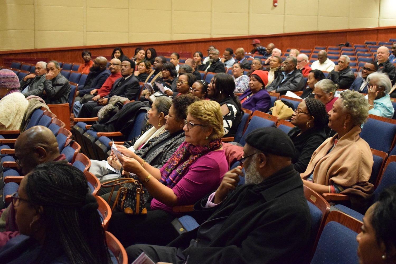 Nassau County residents gathered at the Elmont Memorial Library in February to discuss ways to help Haiti. A recent Department of Homeland Security report, the details of which were obtained through a Freedom of Information request, spoke of persistent hunger and poverty in the Caribbean nation.