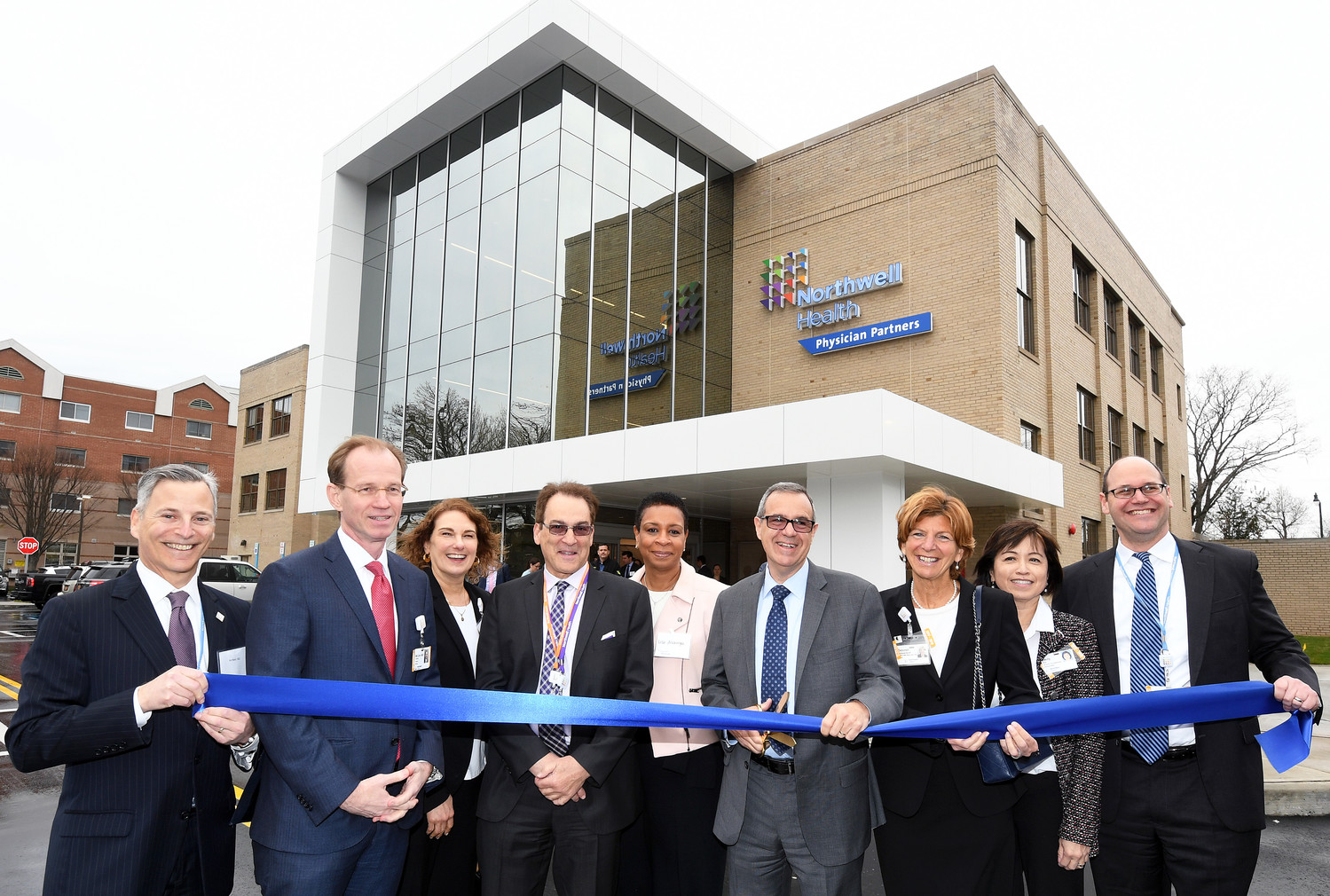 Northwell Health Chief Operating Officer Mark Solazzo, with scissors, led a ribbon-cutting ceremony on April 27 at Northwell Health Physician Partners' new Lynbrook location. The facility is expected to open in late May or early June after undergoing a two-year, $19 million renovation.