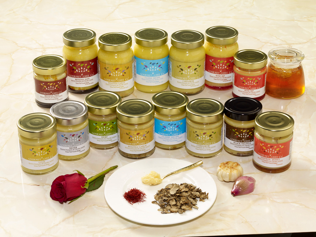 Local business Gourmet Ghee offers 10 flavors of ghee butter.