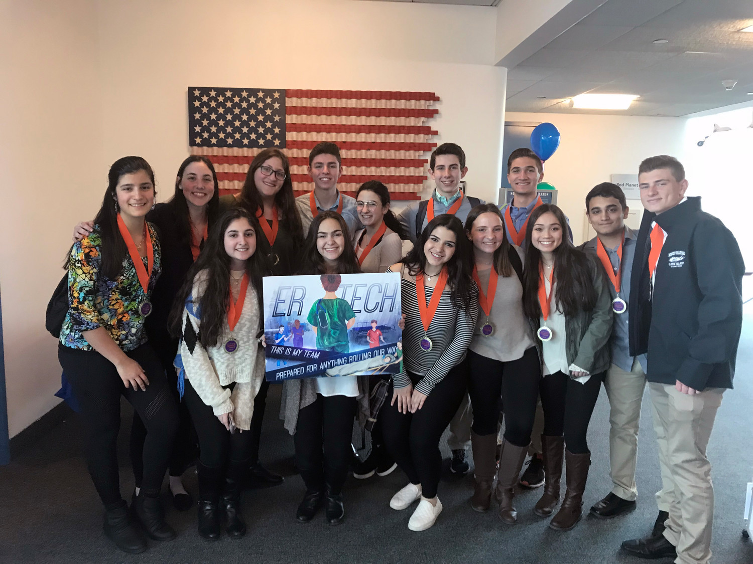 Kennedy's Advanced Science Research biology team won third place for their career advertisement poster, which represented the Emergency Department from North Shore-LIJ.