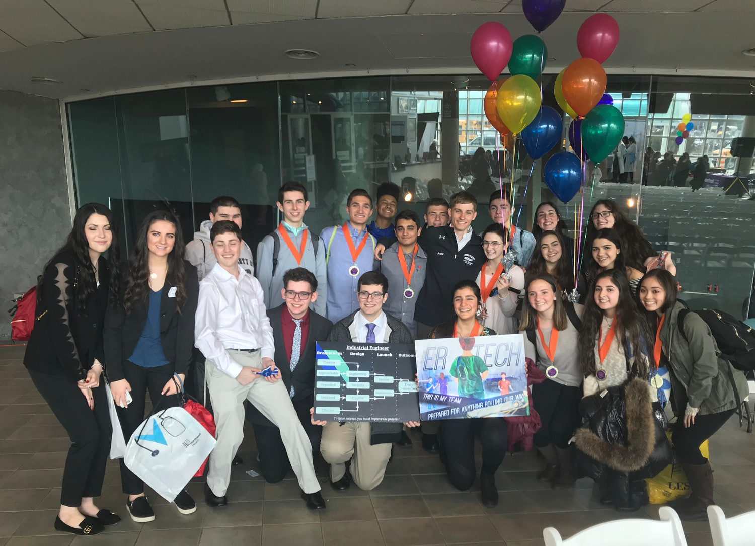 Two teams from John F. Kennedy High School presented in the Northwell Health SPARK Challenge competition on April 12.
