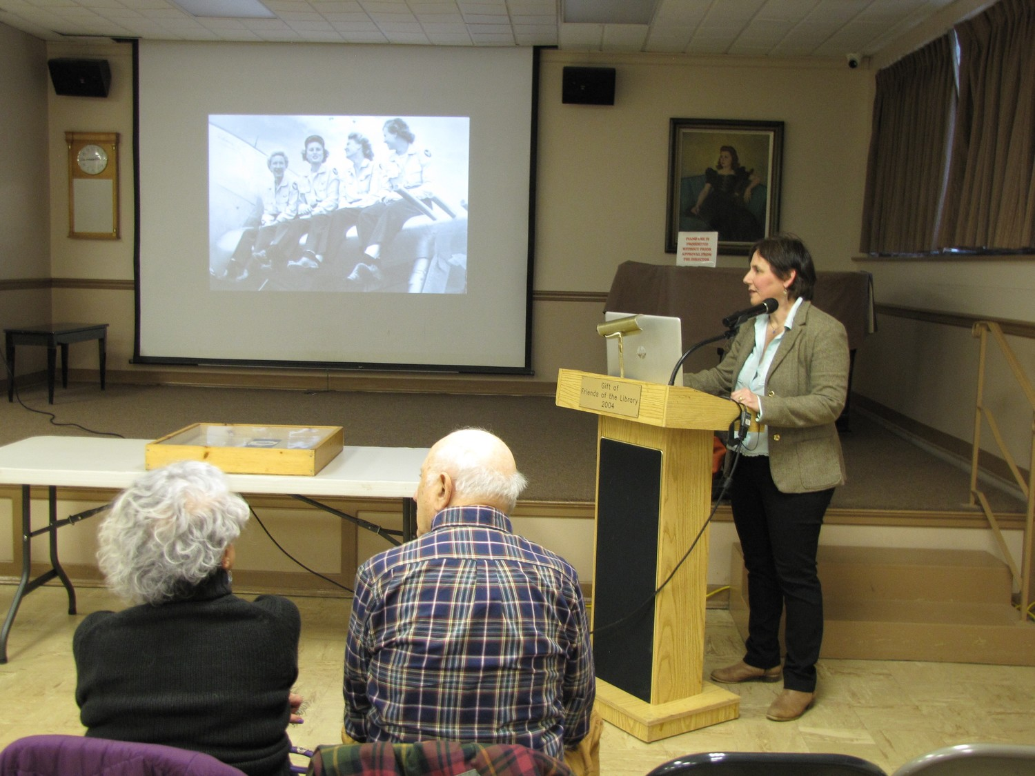 Historian Julia Lauria-Blum discussed the history of the Women Airforce Service Pilots at the Freeport Memorial Library workshop dedicated to women pilot's history.