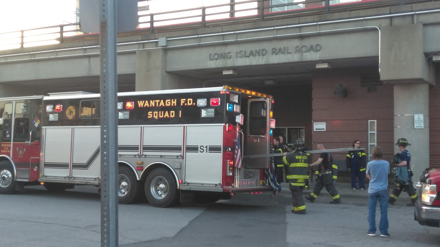 The Wantagh FD rescued 12 passengers stuck on the station's new elevator, the same one that broke down twice in March, on May 7.