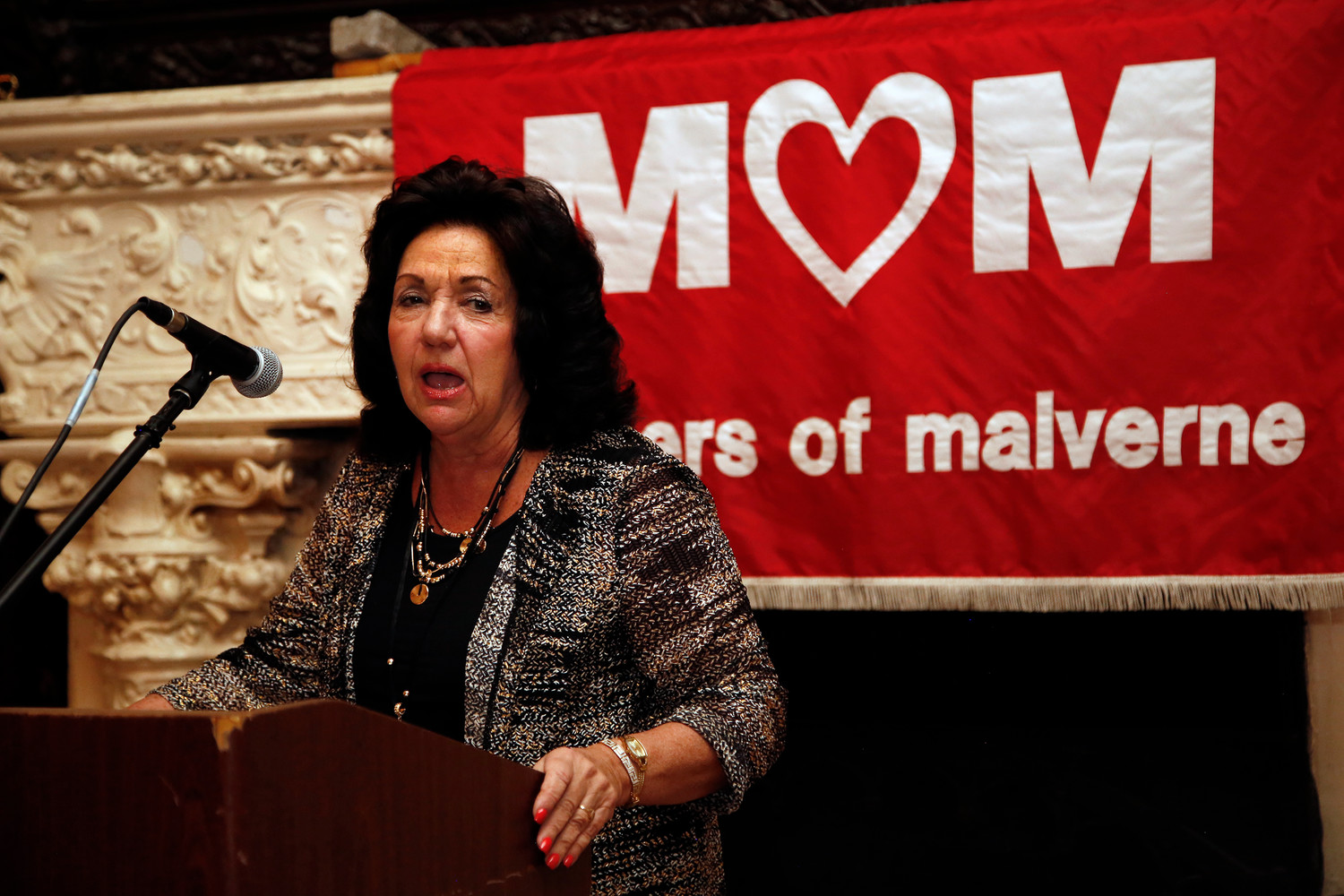 MOMs co-founder MaryAnn Frauenberger entertained mothers with her witty anecdotes.