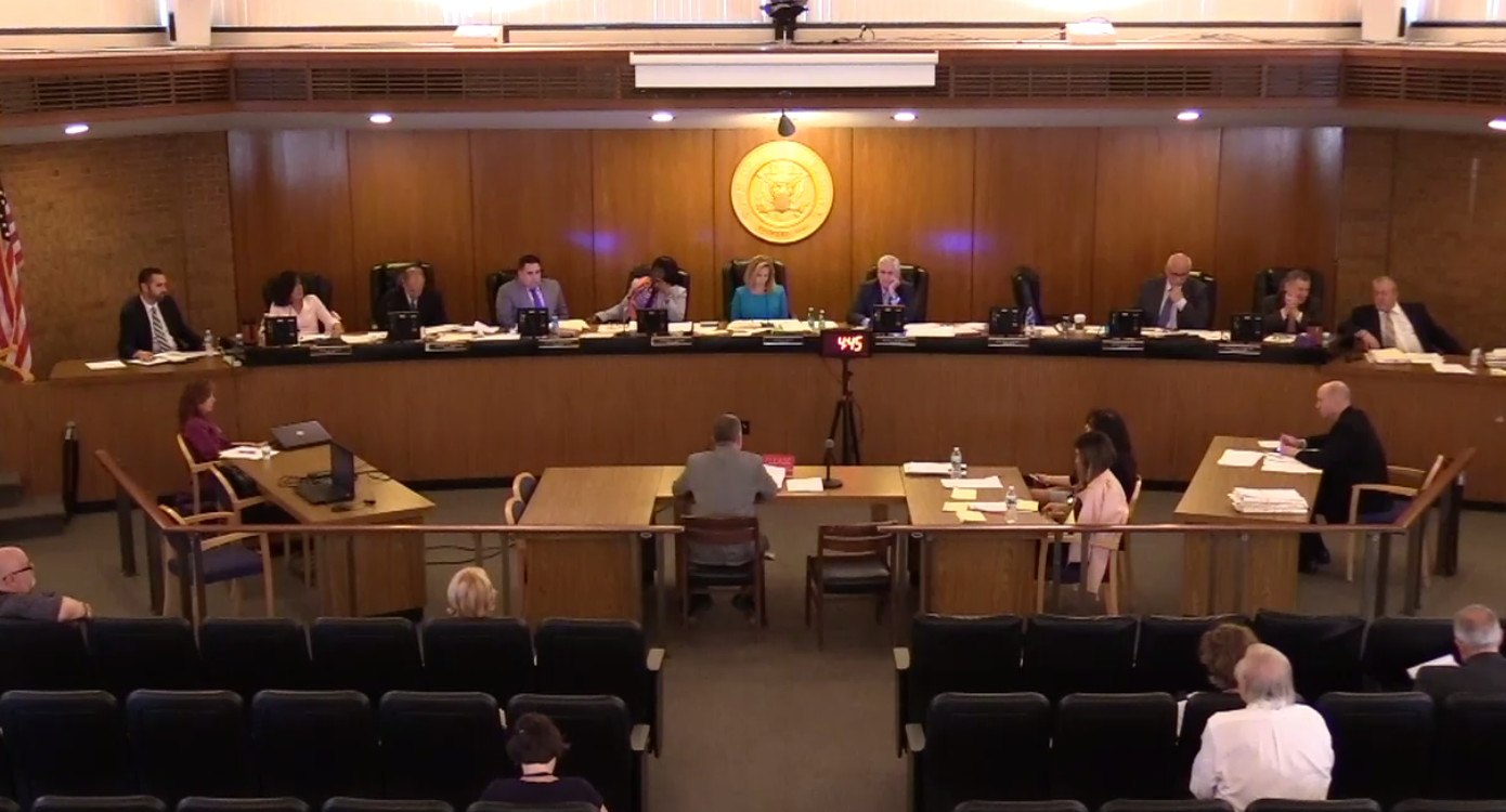 At the Hempstead Town Board meeting of May 8, Republican members tabled scheduling a public hearing on Supervisor Laura Gillen's proposal to have special elections to fill board vacancies.