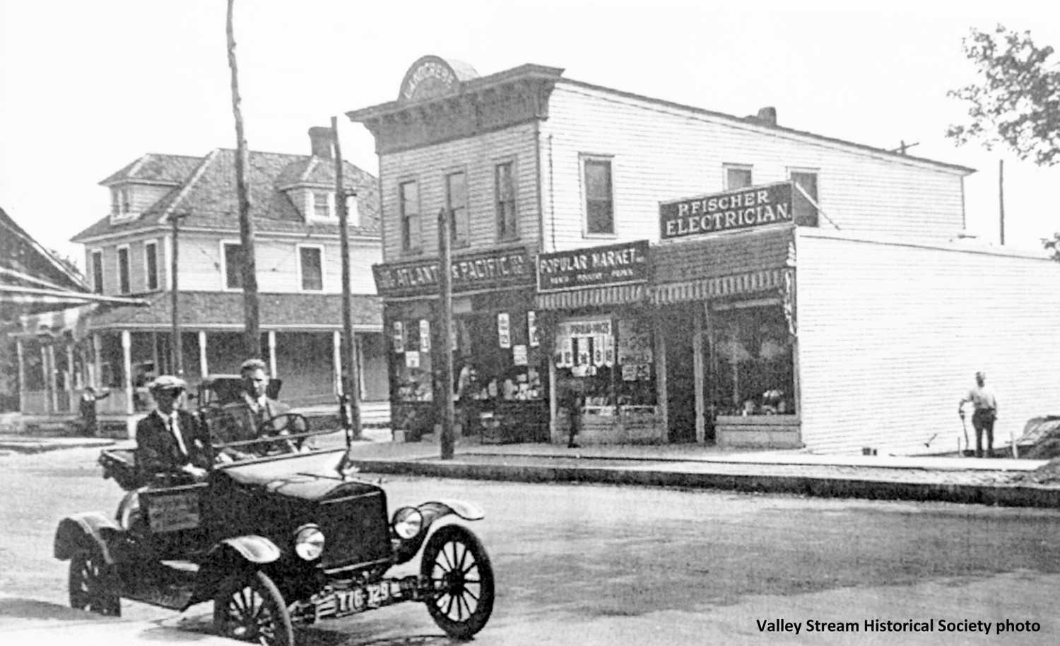 George Schramm's bakery, left, opened in 1910.