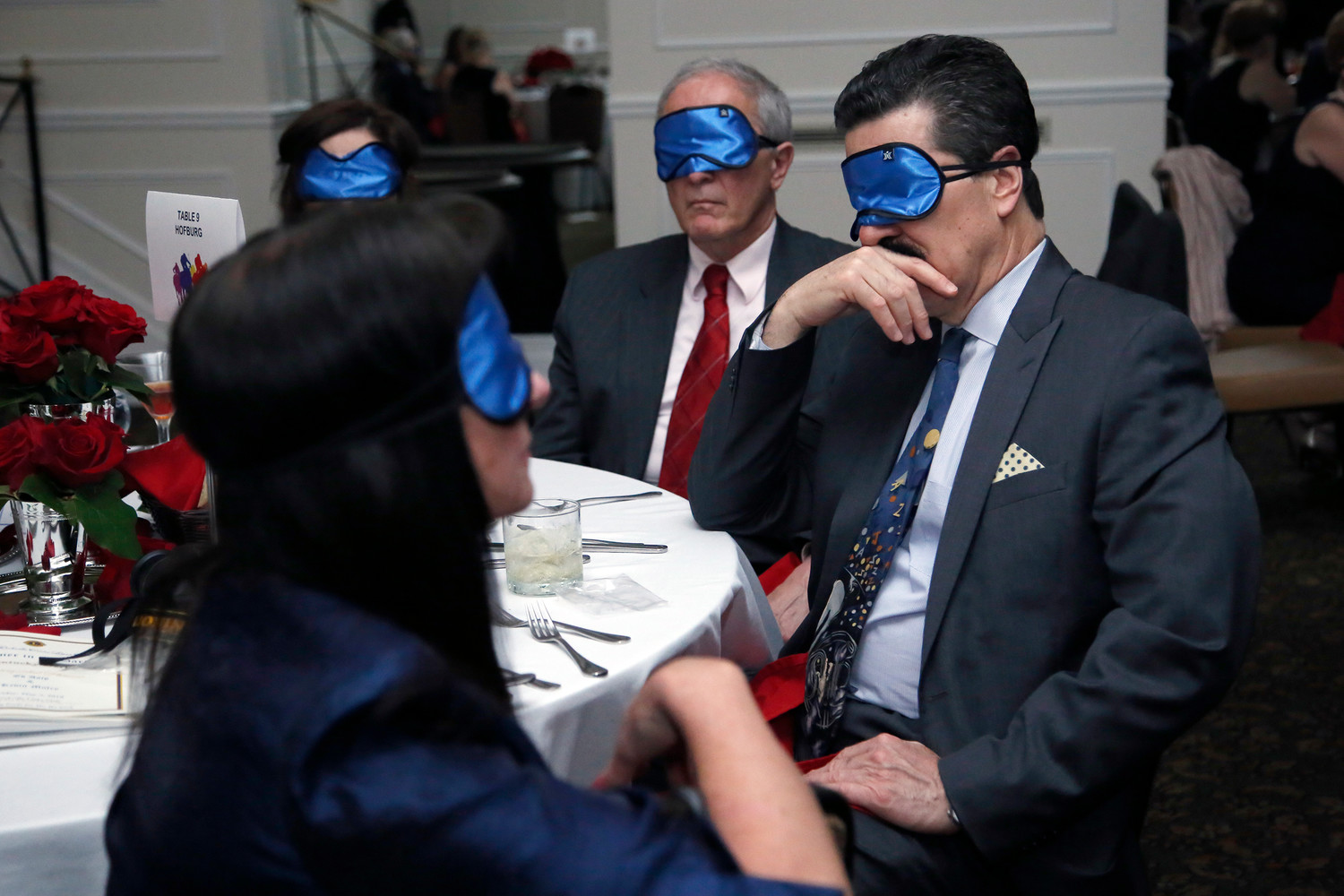 Attendees wore blindfolds during the May 4 event, in order to experience what it's like to be blind.