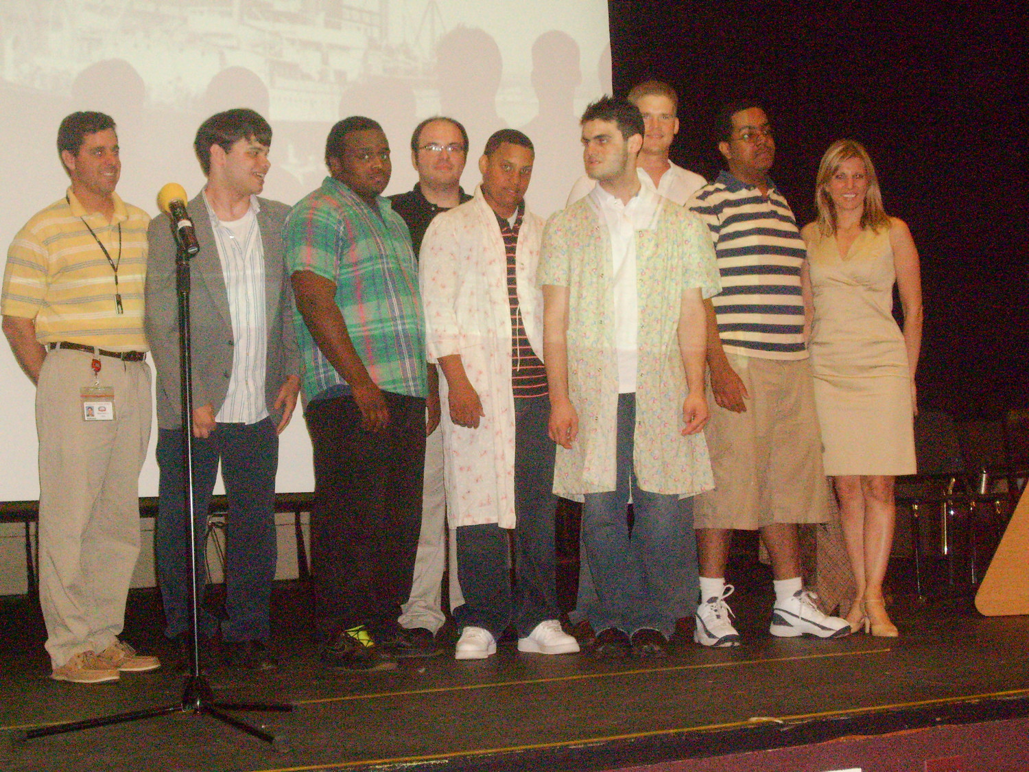 "The original cast of ""The Voyage Home,"" performed in 2008, was the inspiration to create Centre Stage. Bryan Nesdill, second from left, wrote the play."