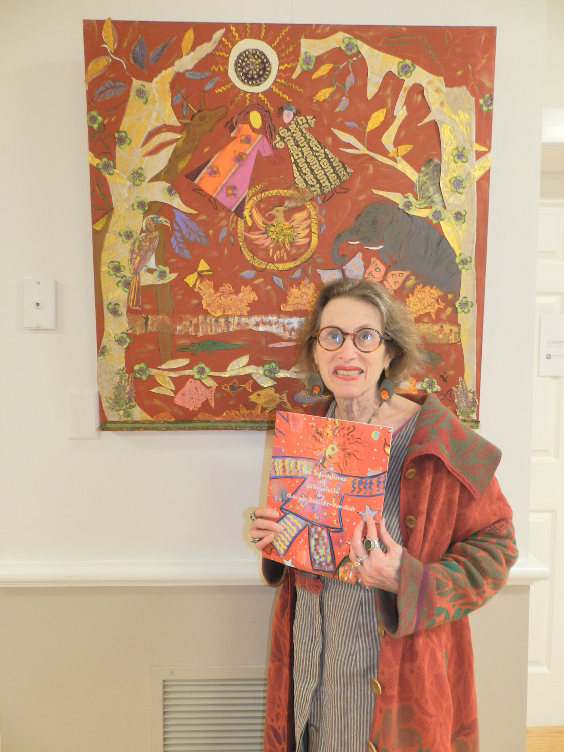 """Gingerella"" was an elaborate painting and a children's book, created by Glen Head resident Ginger Balizer-Hendler."