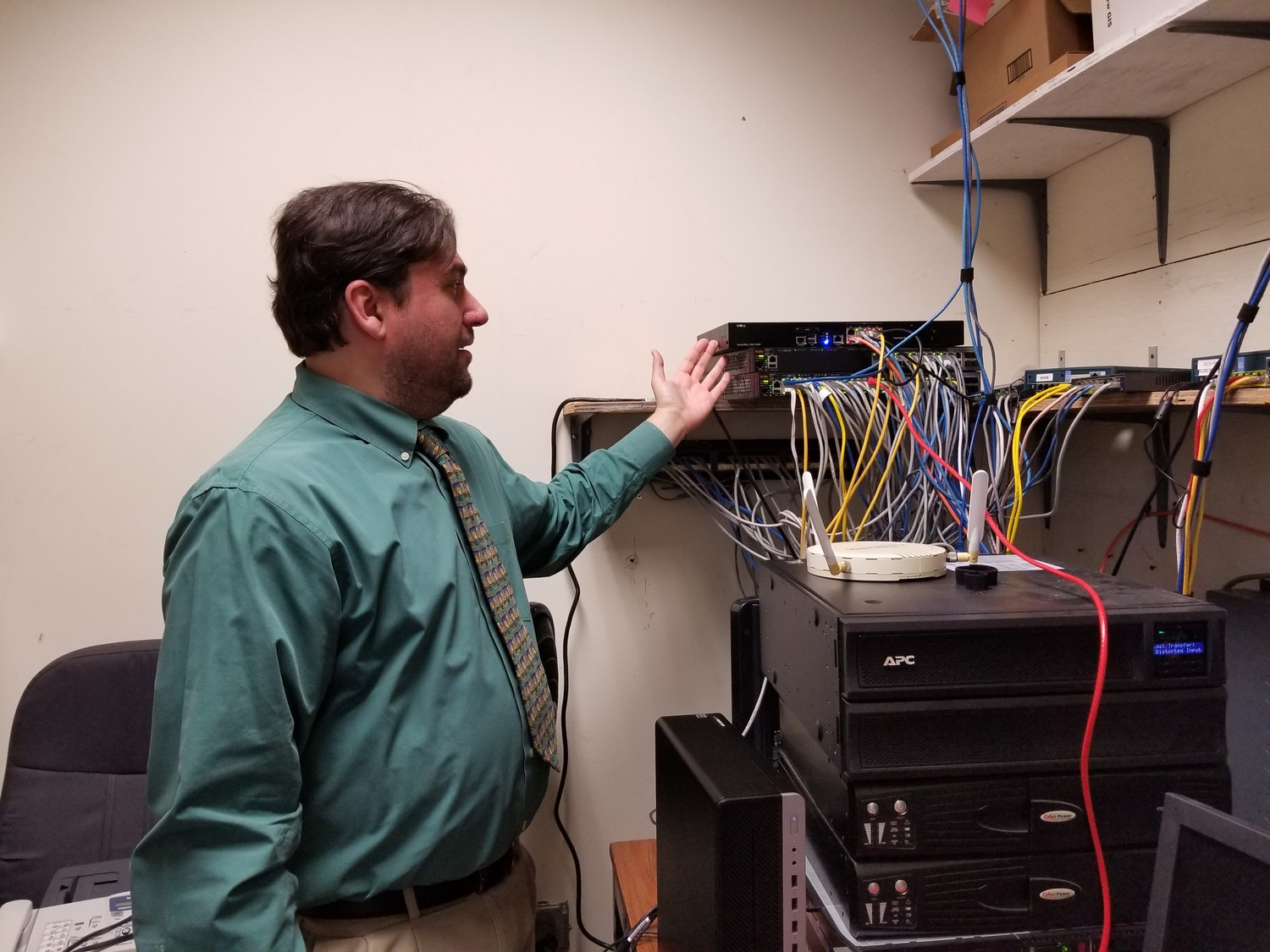 Anthony Frisa, the city's information technology manager, expressed frustration at the current state of his server room.