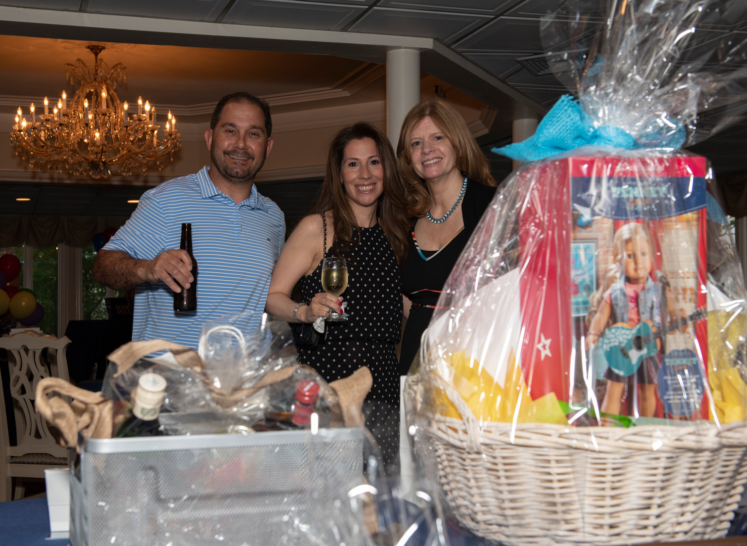 Louie and Angela Madura and Peggy Friedman celebrated a successful night of fun and fundraising.