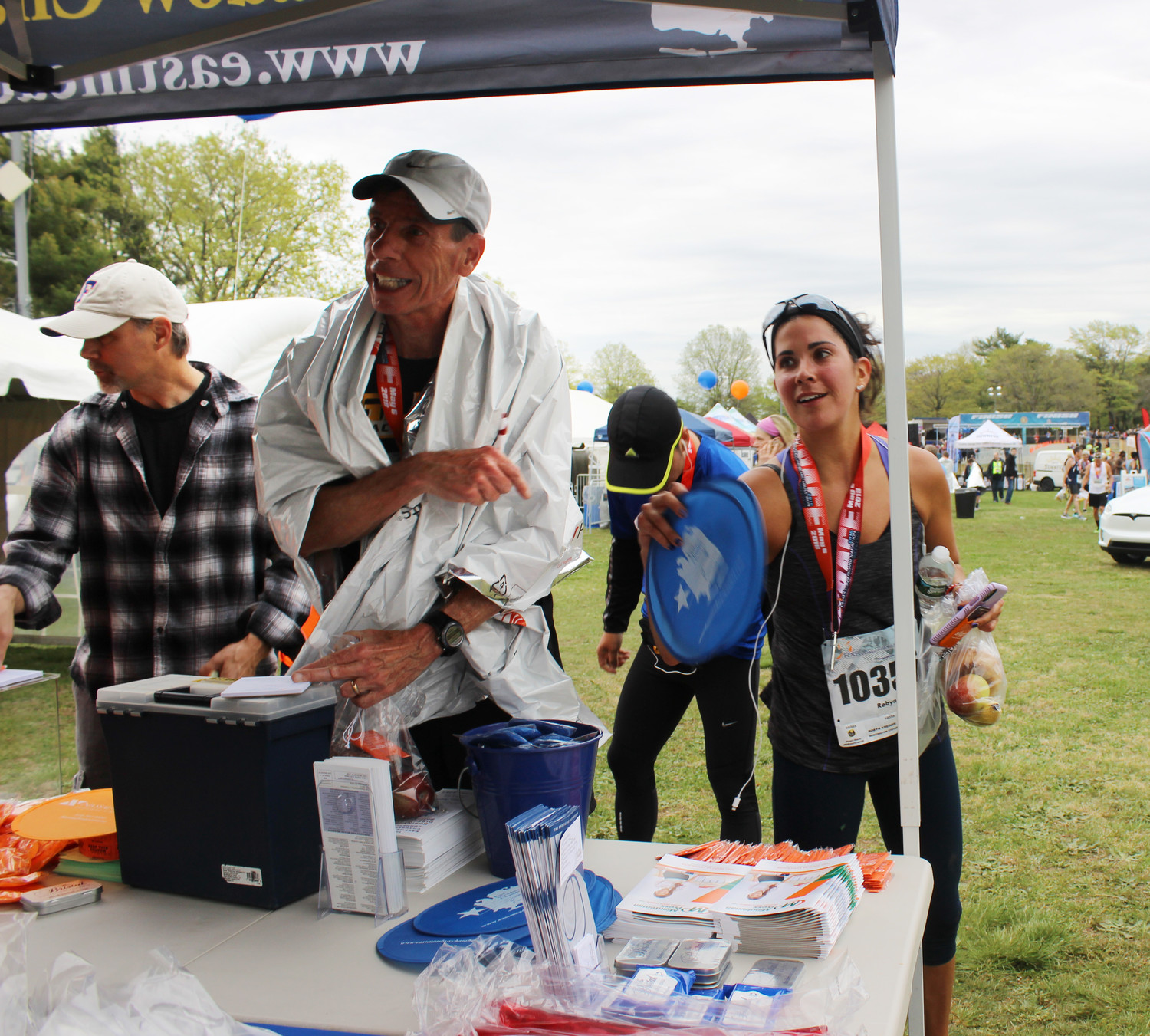 P.J. Diskin, 62, of Mineola, and Robyn Kreiner, 34, of Huntington Station, who compete in races across Long Island, said that the Long Island Marathon is one of their favorites.