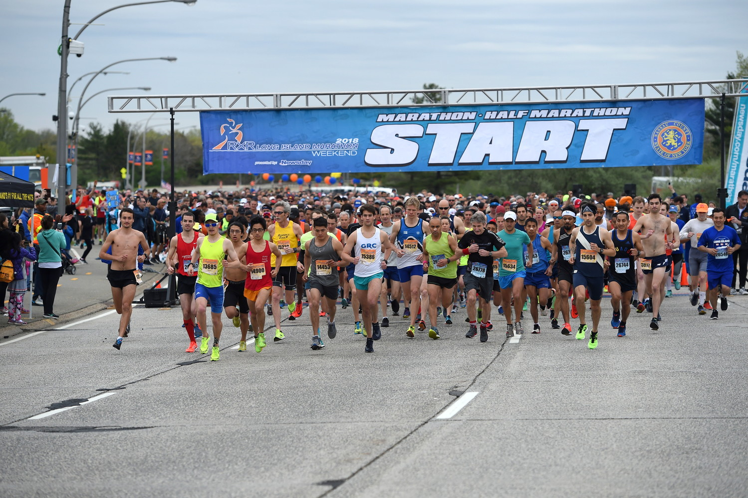 The streets of Nassau County's Hub were filled with thousands of runners who competed in the Long Island Marathon or one of four shorter races last Sunday.