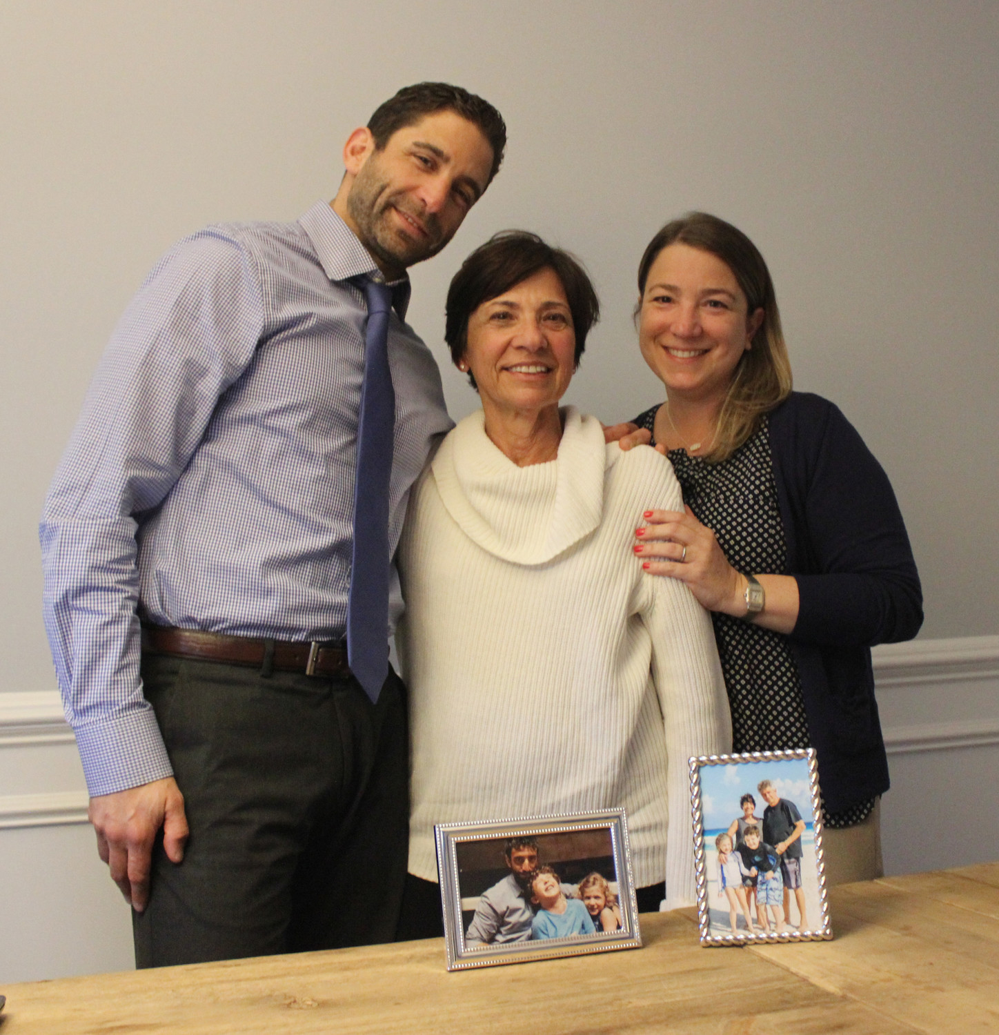 Rena Riccardi's family is committed to helping her battling amyotrophic lateral sclerosis, which was diagnosed in February 2017. Her son, Christopher, the chairman of mathematics at Mepham High School, and her daughter, Aubrey Riccardi Wickersham, a Merrick resident and a partner at Goldberg Weprin Finkel Goldstein LLP, spoke to the Herald about her progress.