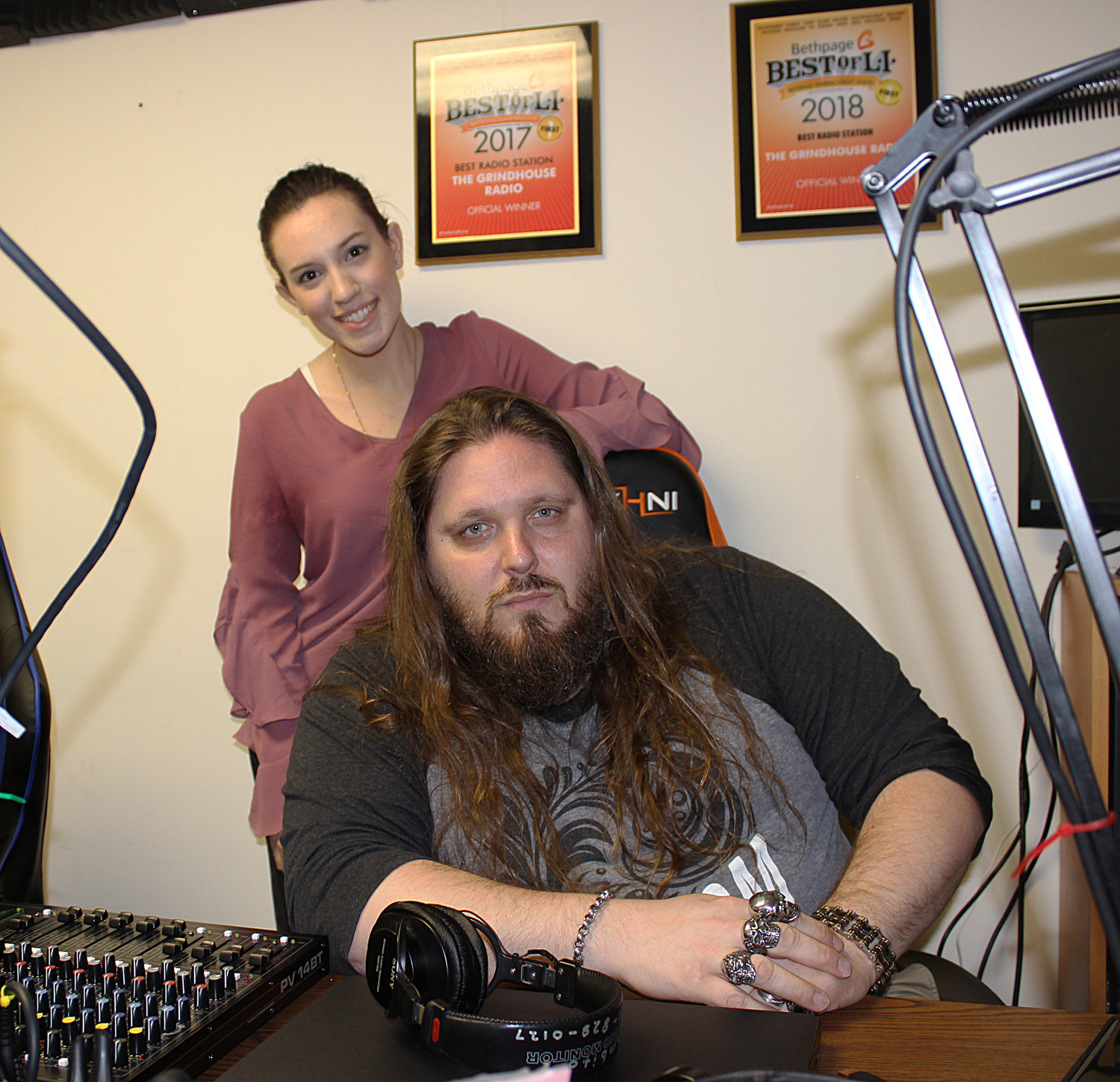"The Grindhouse Radio is a contender in SCORE's American Small Business Championship. Kim Adragna, 23, of Merrick and William ""Brimstone"" Kucmierowski, 43, recently spoke to the Herald about the contest."