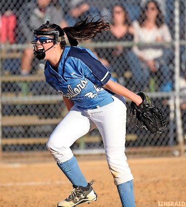 Oceanside sophomore pitcher Hallie Neufeld had plenty to cheer about last Friday as the Lady Sailors knocked off Long Beach in the Class AA quarterfinals.
