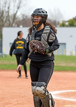 Catcher Kate Shanley had a big year behind and at the plate. She led Conference ABC-VI with seven homers and batted nearly .400.