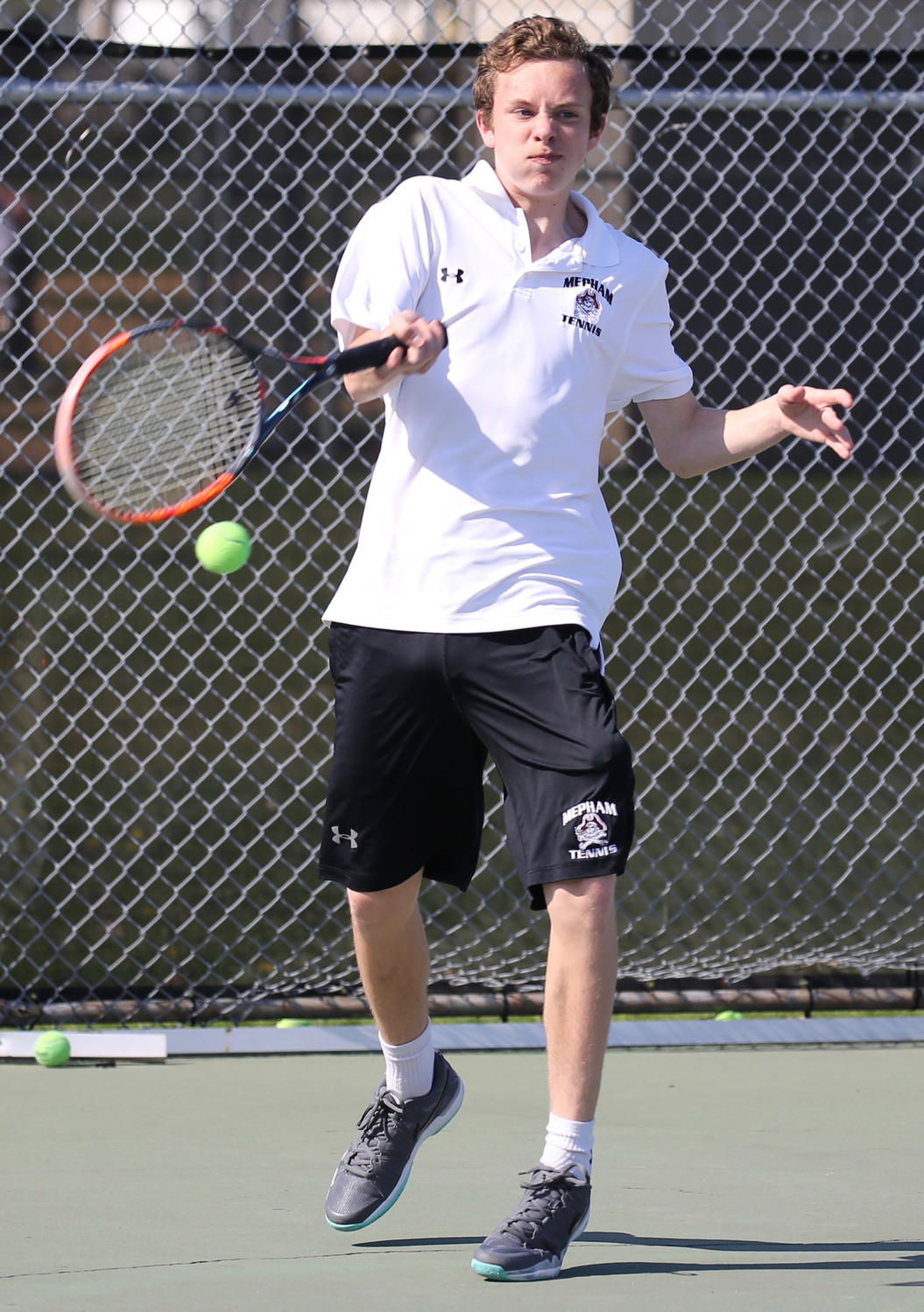 Jesse Schiffman played in the No. 1 singles spot for the Pirates, who captured the Conference 3B crown with a record of 13-1.