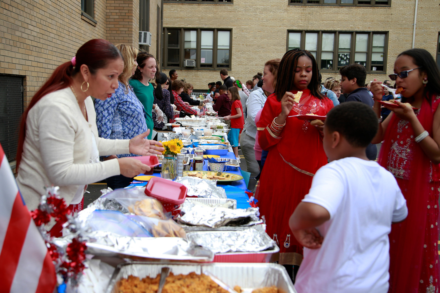 Parents brought homemade food items from their home countries for everyone to enjoy.