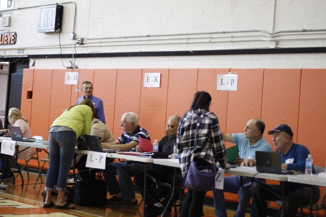 Voters flocked to East Rockaway Junior-Senior High School on Tuesday to participate in the 2018-19 budget vote