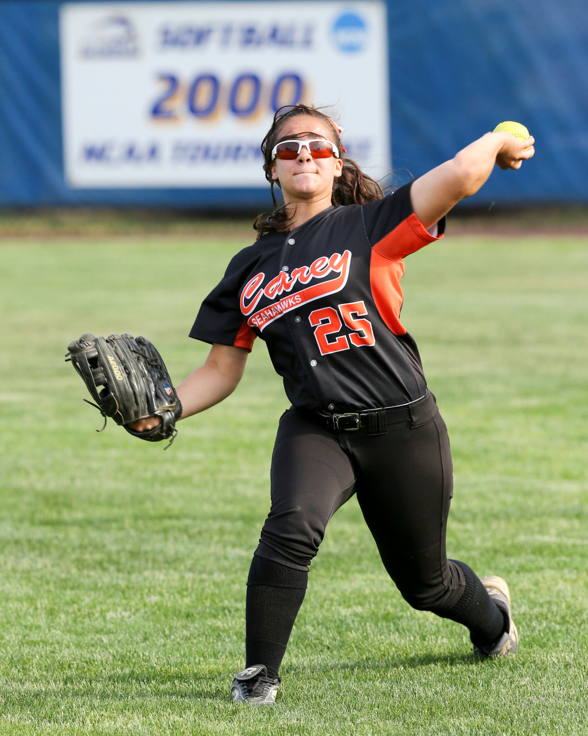 Vilchez homered to set the tone for the Lady Seahawks' 6-0 shutout over rival Clarke High School in the 2016 Nassau County Class A championship series.