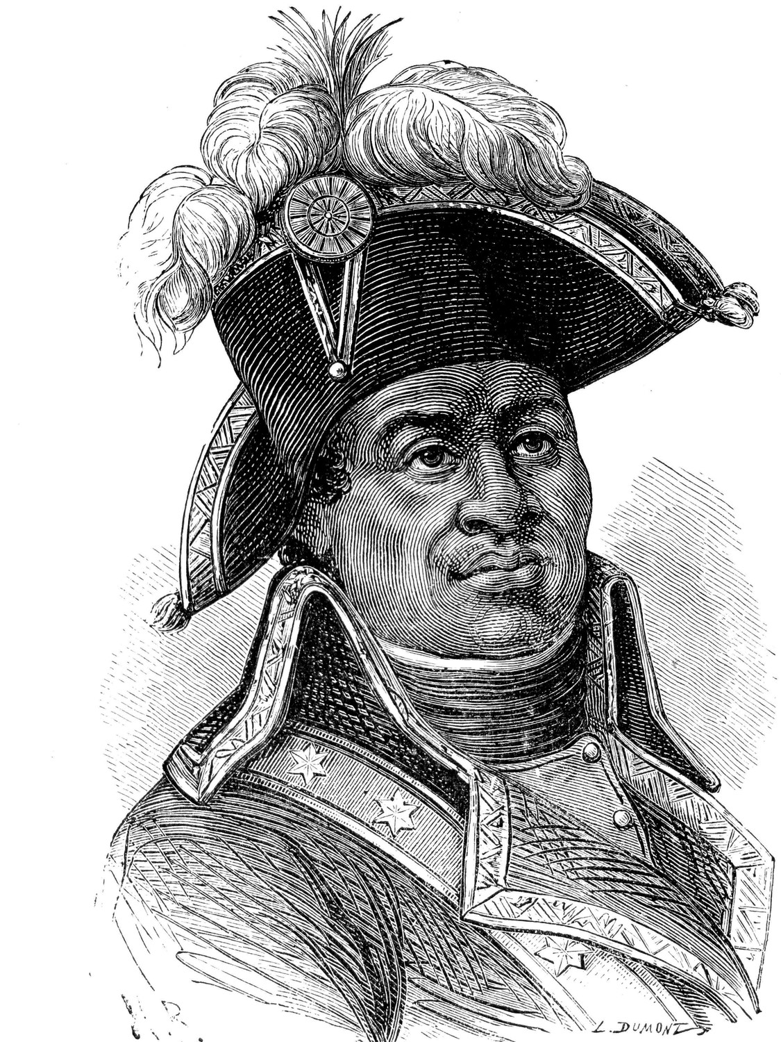 Tousaint Louverture, sometimes called teh Haitian George Washington, was one of the leaders of the Haitian Revolution in the late 1700s