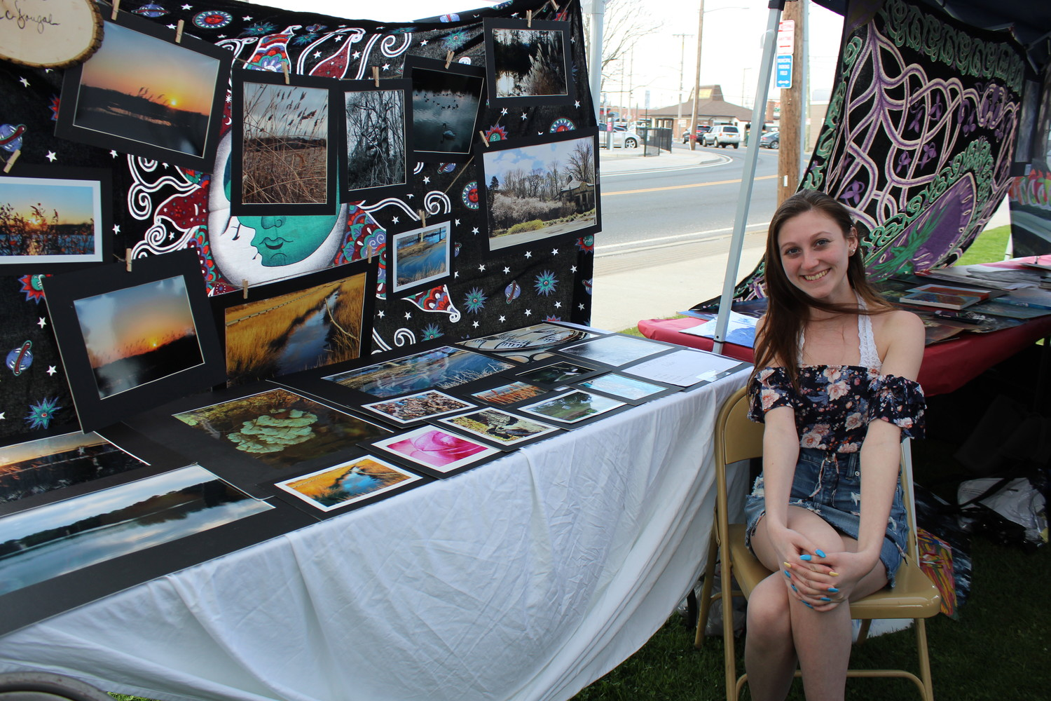 Kristina McDougal, a senior at East Rockaway Junior-Senior High School, displayed her photographs of scenery at the third annual Waterfront Art Walk.