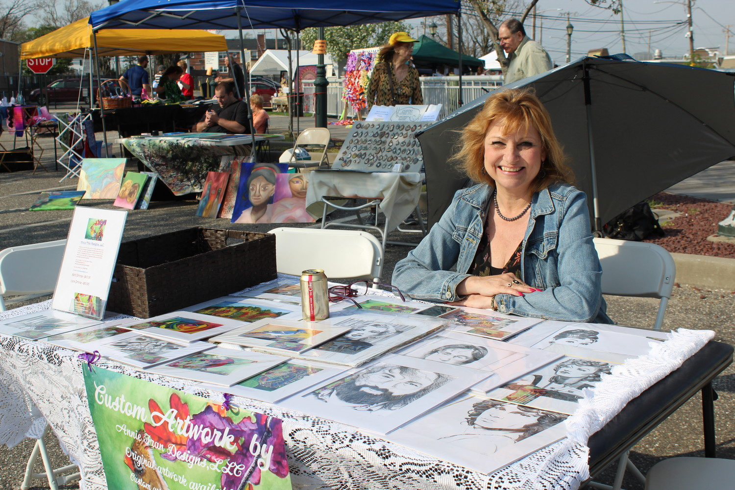Valley Stream resident Anne Keleman sold her drawings of celebrities.