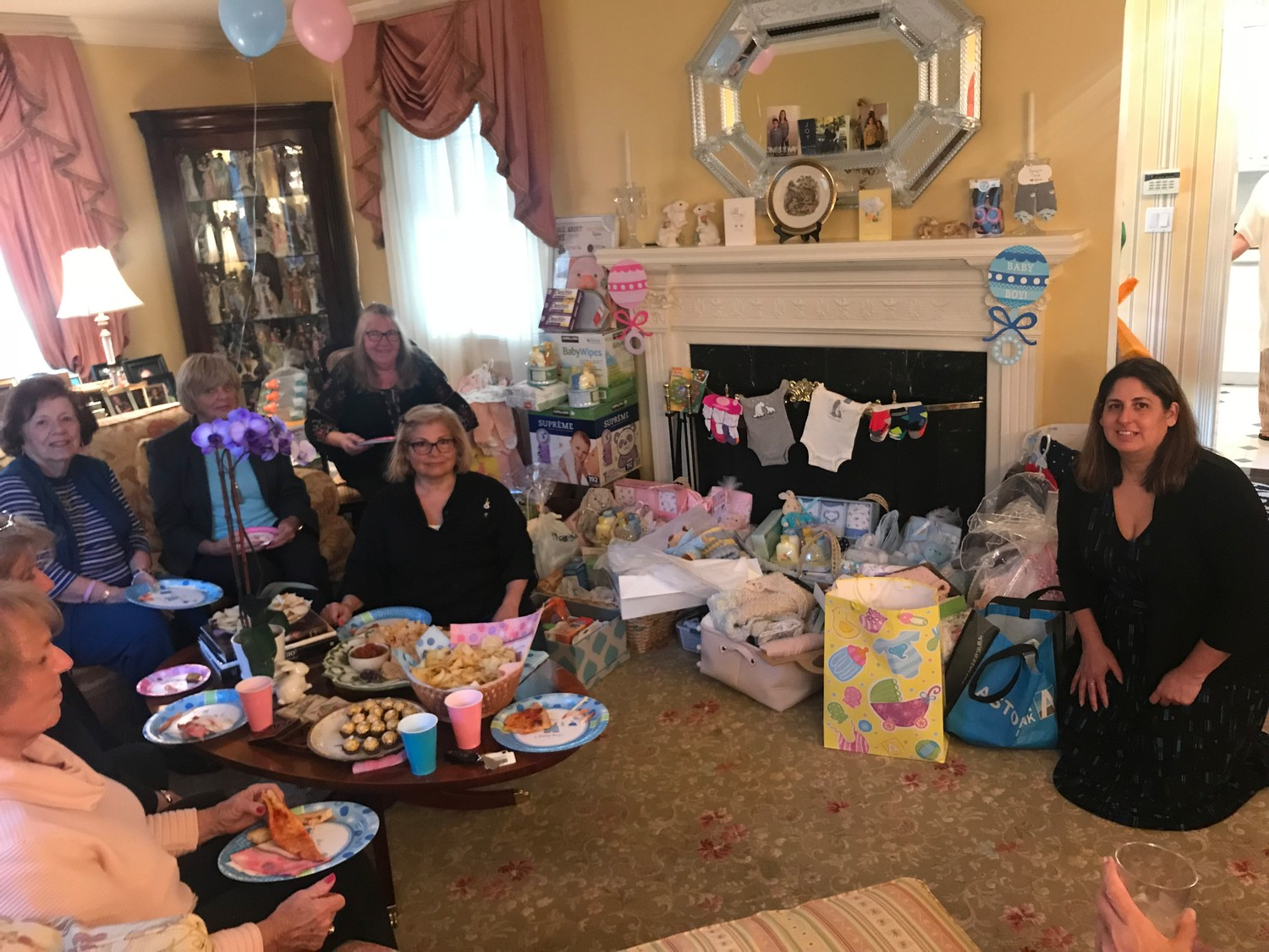 Members of the Lynbrook Kiwanis Club hosted a baby shower where they collected clothes, diapers and other items, which will be donated to needy mothers at South Nassau Communities Hospital, in Oceanside.