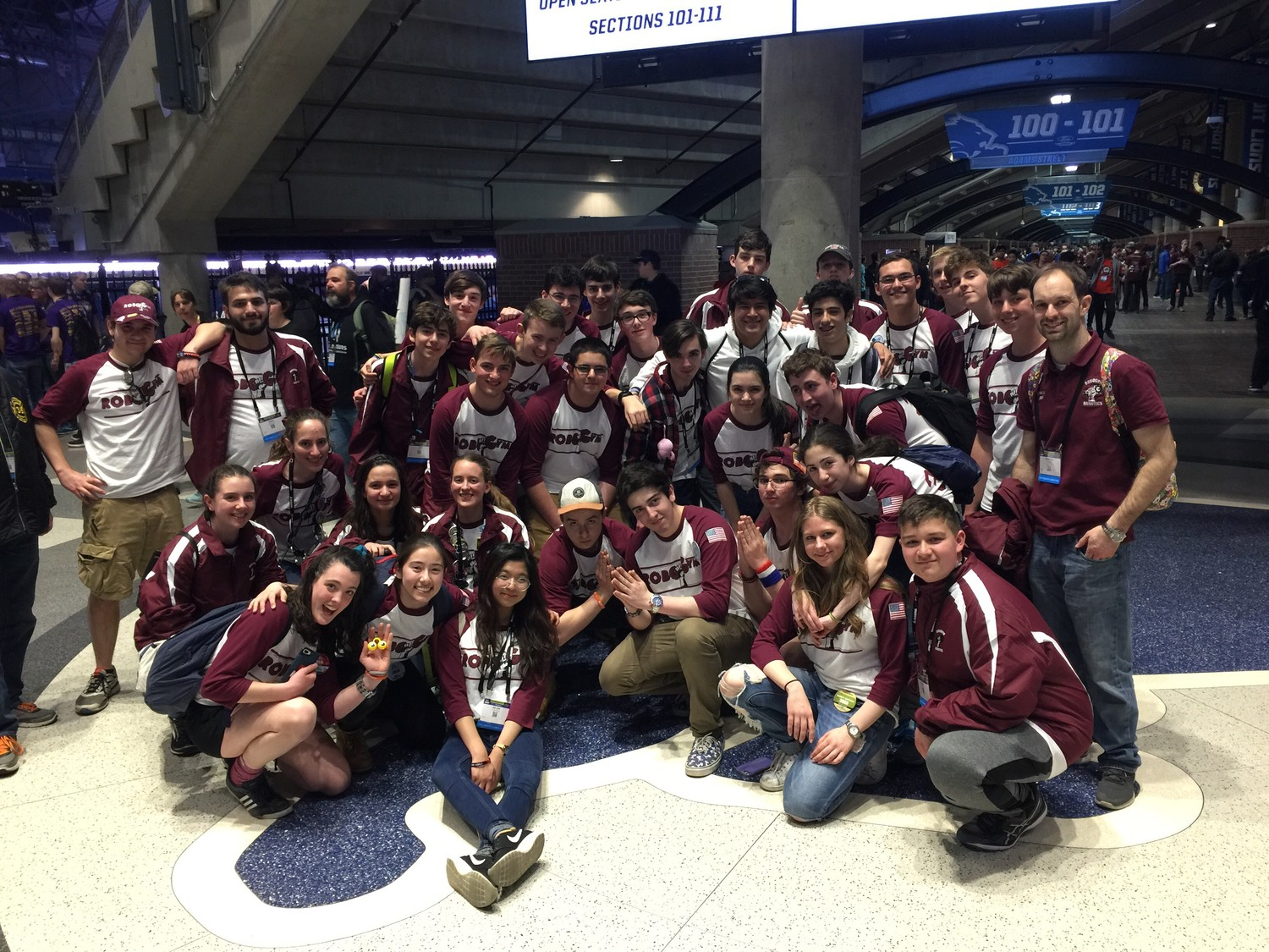 The RoboGym Robotics team from North Shore High School traveled to Detroit to compete in the FIRST Robotics Competition National Championships.