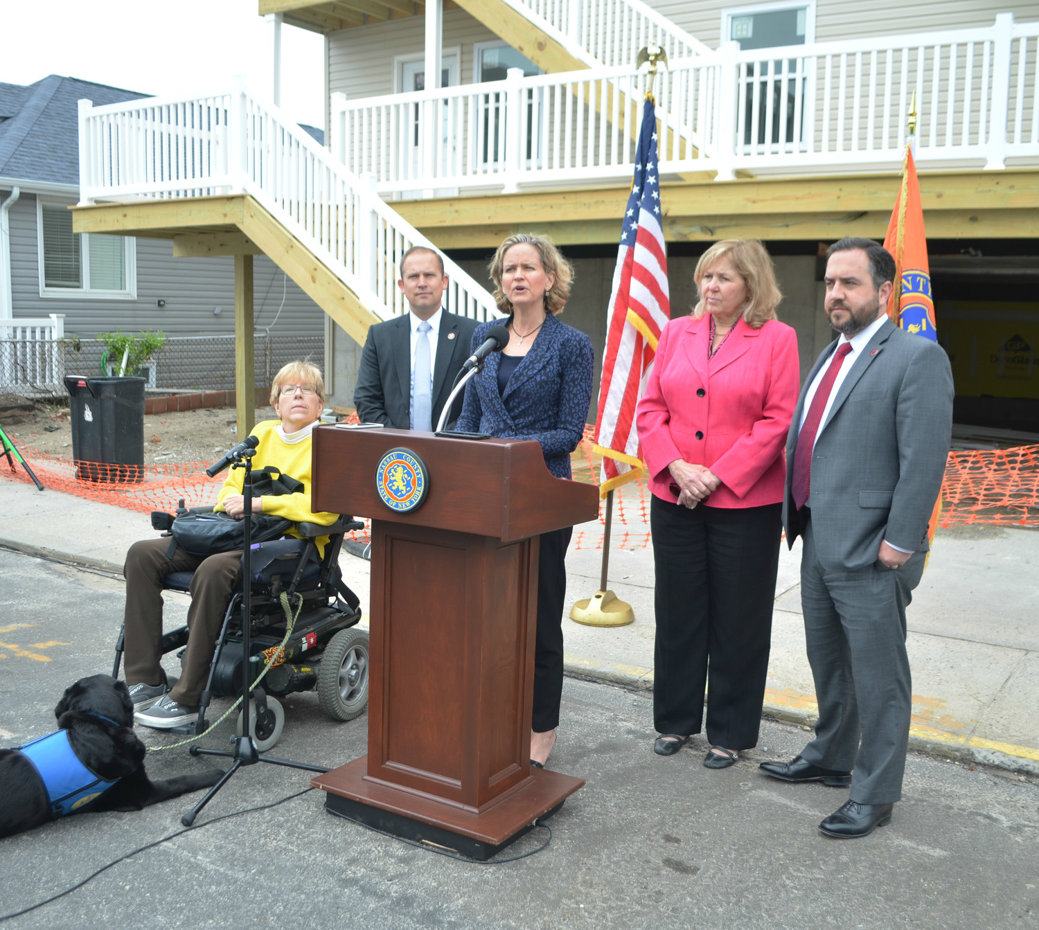 County Executive Laura Curran announced on Monday that county officials are pushing for new legislation that would strengthen protections for contractor fraud victims.