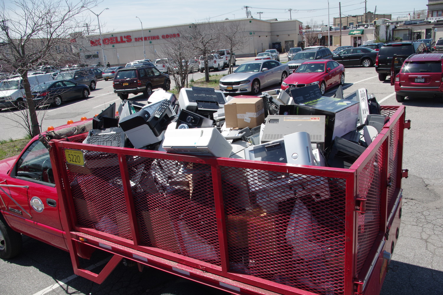 Sanitation Supervisor Dan Faust said residents brought three pickup trucks worth of electronic waste to be recycled.